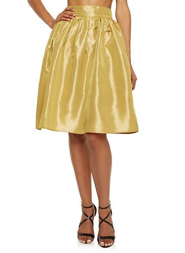 Sateen Midi Skirt,CHAMPAGNE,large
