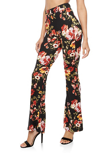 Floral Flared Pants at Rainbow Shops in Jacksonville, FL | Tuggl