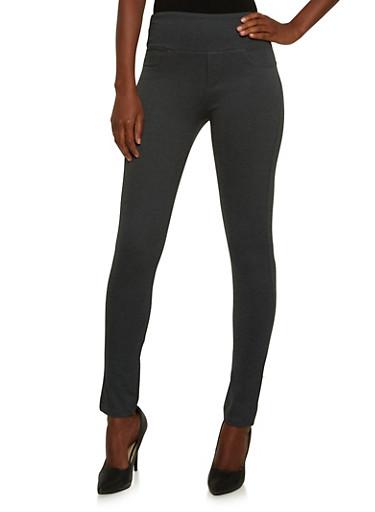 Stretch Knit Skinny Pants,CHARCOAL,large