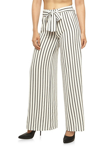 Striped Palazzo Pants with Open Sides at Rainbow Shops in Daytona Beach, FL | Tuggl