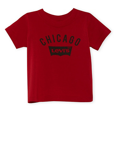 Toddler Boys Levi's Chicago T-Shirt,RED,large