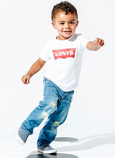 Toddler Boys Levis Signature Tee,WHITE,large