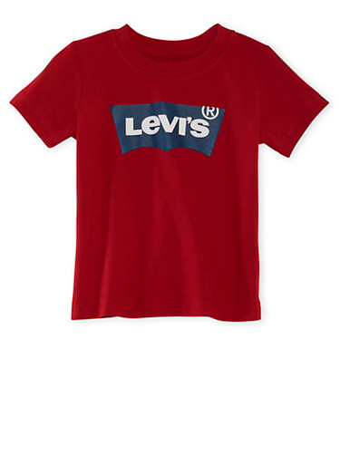 Toddler Boys Levi's T-Shirt with Logo Graphic,RED,large