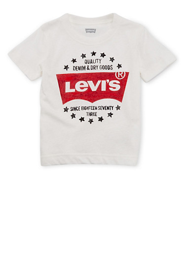 Toddler Boys Levis Graphic T-Shirt,WHITE,large