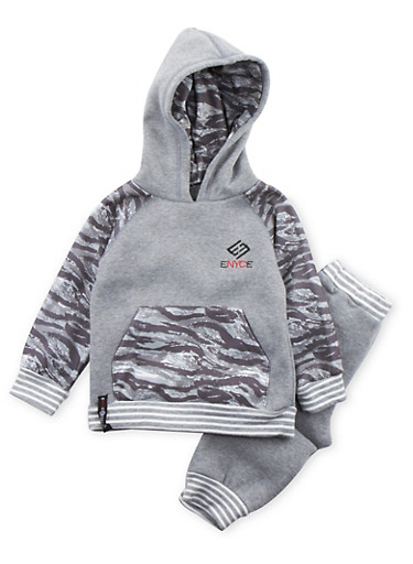 Toddler Boys Enyce Hoodie and Joggers Set,GREY,large