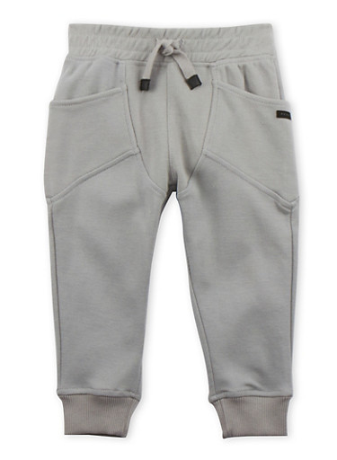 Toddler Boys Sean John Joggers with Wraparound Pockets,GREY,large