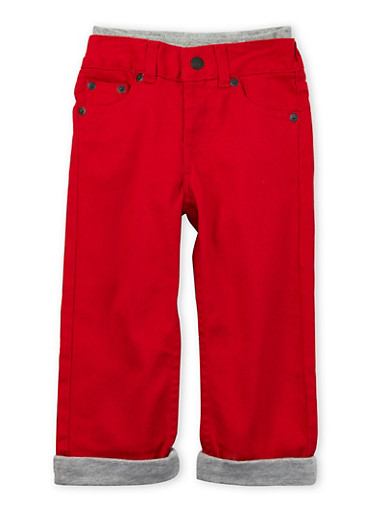 Toddler Boys Levis Colored 514 Straight Jeans with Contrast Lining,RED,large