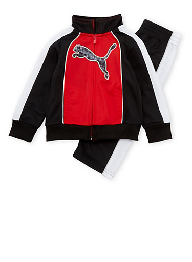 Baby Boy Puma Tracksuit,RED,large
