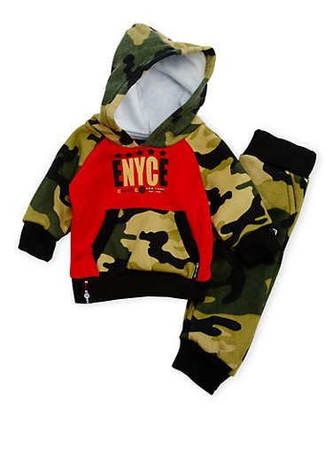 Baby Boy Enyce Camo Hoodie and Joggers Set,CAMOUFLAGE,large