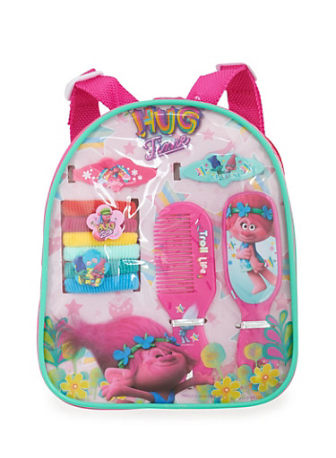 Trolls Hug Time Mini Backpack with Hair Accessories,MULTI COLOR,large