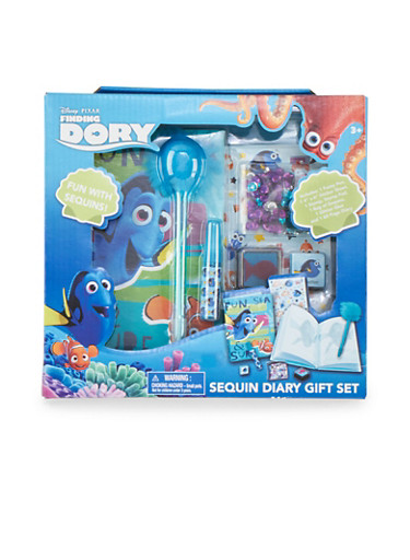 Finding Dory Sequin Diary Gift Set,MULTI COLOR,large