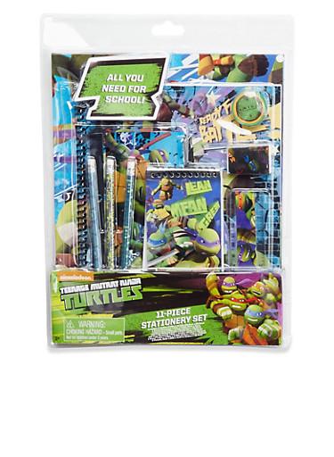 Teenage Mutant Ninja Turtles 11-Piece Stationery Set,MULTI COLOR,large
