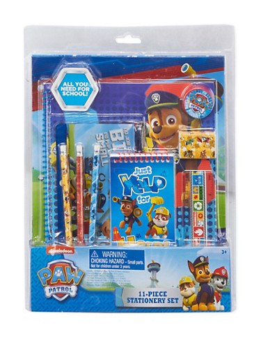 Paw Patrol 11 Piece Stationery Set,MULTI COLOR,large