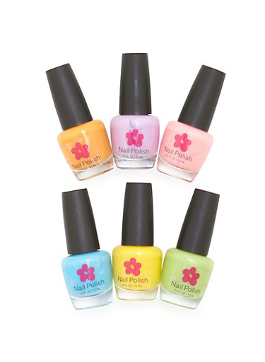 Limited Too Glow in the Dark Nail Polish Set,MULTI COLOR,large