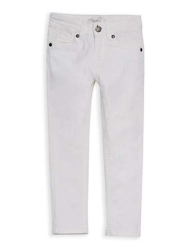 Girls 4-6x Colored Pants,IVORY,large