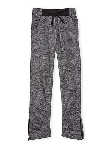 Girls 7-16 Joggers with Zipper Ankles,BLACK,large