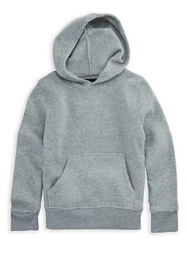 Girls 7-16 Long Sleeve Pullover Hoodie,HEATHER,large