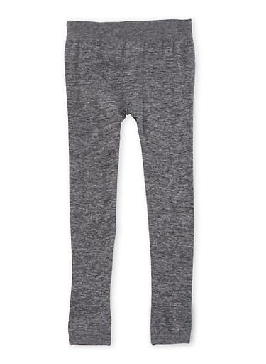 Girls 7-16 Marled Leggings,BLACK,large