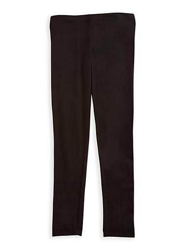 Girls 4-6x Solid Soft Leggings,BLACK,large