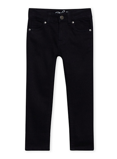 Girls 4-6x Classic Skinny Jeans,BLACK,large