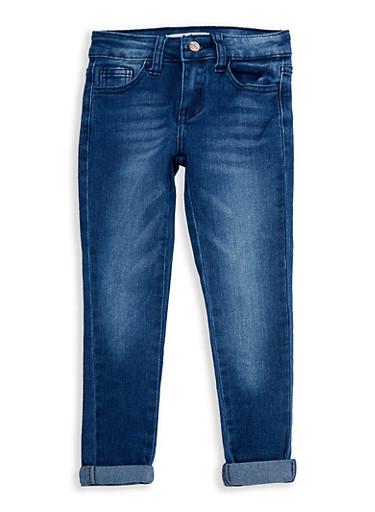 Girls 4-6x Faded Wash Jeans,MEDIUM WASH,large