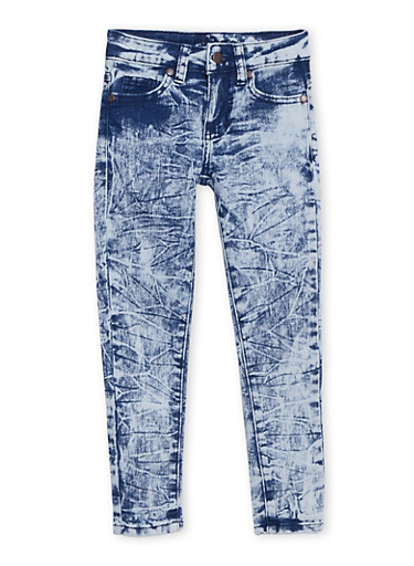 Girls 7-16 Acid Wash Jeans,DENIM,large