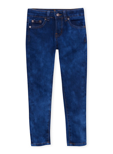 Girls 7-16 Faded Skinny Jeans with Contrast Stitching,LIGHT WASH,large