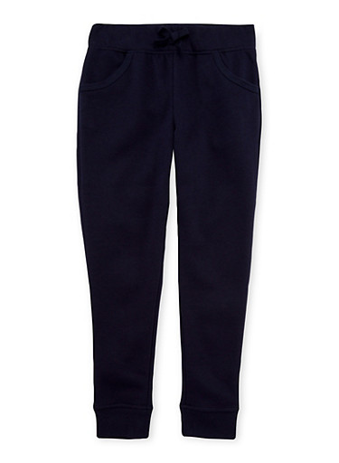 Girls 7-16 French Toast Joggers,NAVY,large