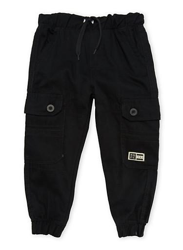 Boys 4-7 BHPC Solid Twill Cargo Pants,BLACK,large