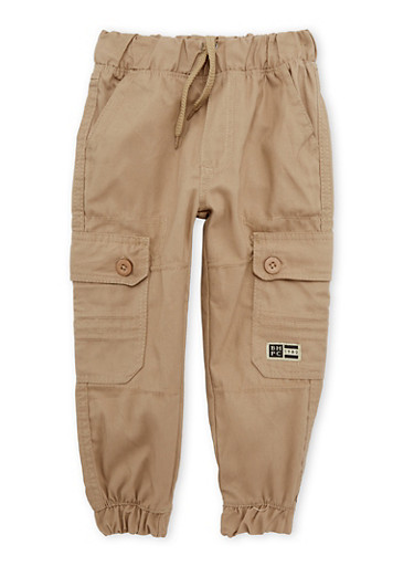 Boys 8-20 BHPC Khaki Cargo Joggers with Six Pockets,KHAKI,large