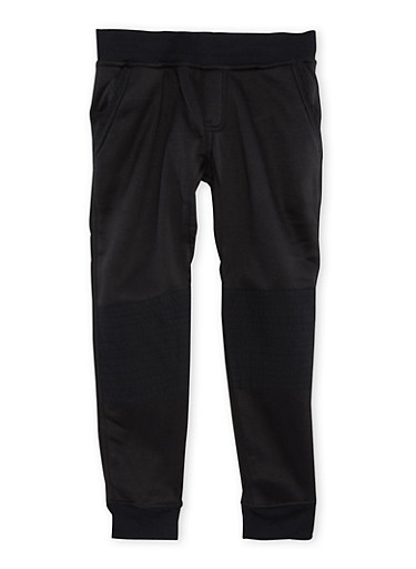 Boys 8-18 Moto Fleece Joggers,BLACK,large