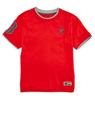 Boys 4-7 BHPC Layered Tee,RED,large