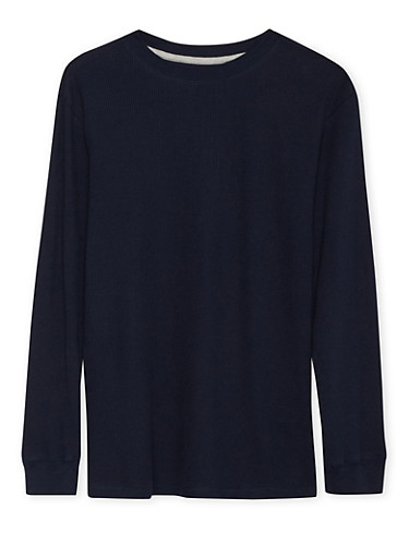 Boys 4-7 French Toast Long Sleeve Thermal Top,NAVY,large