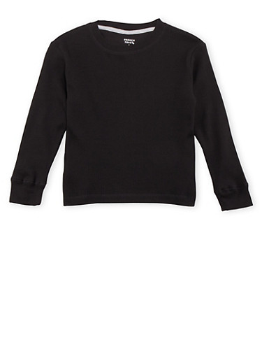Boys 4-7 French Toast Thermal Top,BLACK,large
