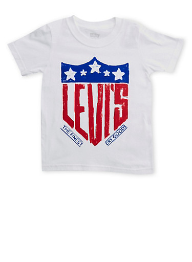 Boys 4-7 Levis Graphic Tee,WHITE,large