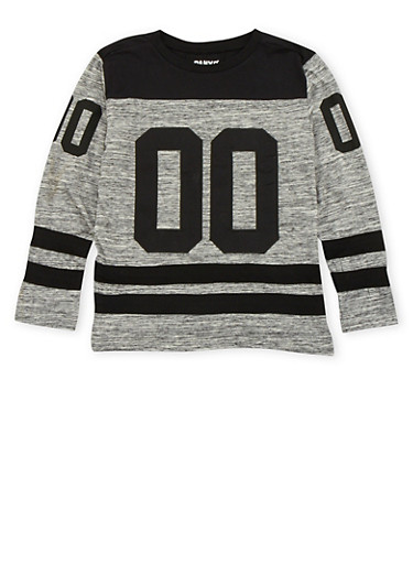 Boys 8-18 Varsity Top with Graphic,HEATHER,large