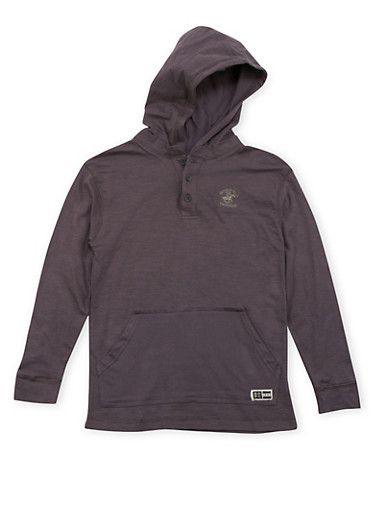 Boys 8-20 BHPC Embroidered Hoodie,CHARCOAL,large