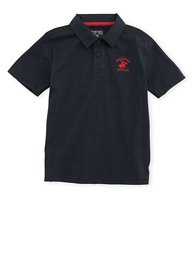 Boys 8-18 BHPC  Polo Shirt,BLACK,large