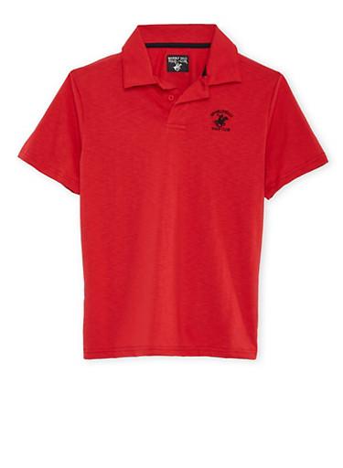Boys 8-18 BHPC Polo Shirt,RED,large