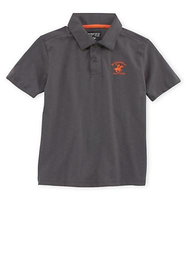 Boys 8-18 BHPC Polo Shirt,CHARCOAL,large