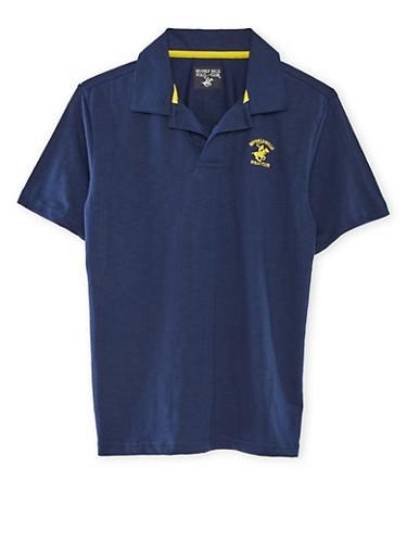 Boys 8-18 BHPC Polo Shirt,NAVY,large