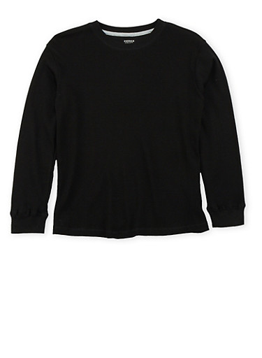 Boys 8-16 French Toast Thermal Top,BLACK,large