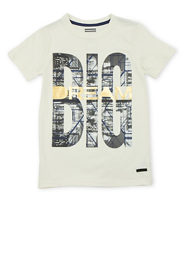 Boys 8-18 Sean John Tee with Dream Big Graphic,OATMEAL,large