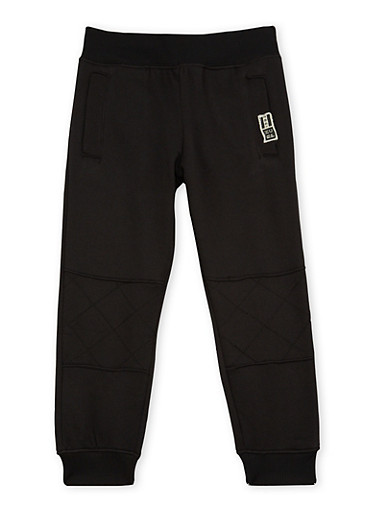 Boys 4-7 BHPC Joggers with Moto Panel,BLACK,large