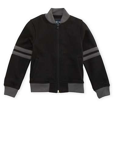 Boys 4-7 French Toast Varsity Bomber Jacket,BLACK,large