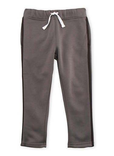 Boys 4-7 French Toast Fleece Sweatpants with Stripe,GREY,large