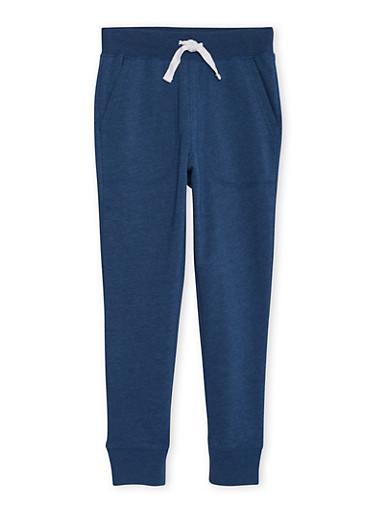 Boys 4-7 French Toast Fleece Jogger Pants,INDIGO,large