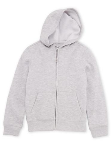 Boys 4-7 French Toast Hooded Sweatshirt,HEATHER,large