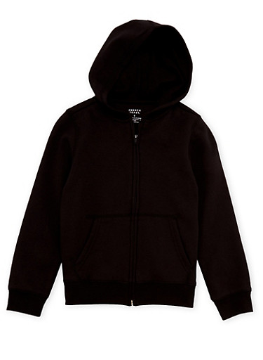 Boys 4-7 French Toast Zip Front Hoodie,BLACK,large