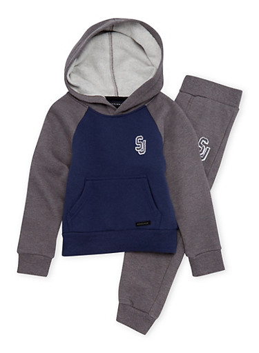 Boys 4-7 Sean John Hoodie and Joggers Set,NAVY,large